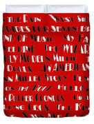 Classic Movie Musicals Duvet Cover by Andee Design
