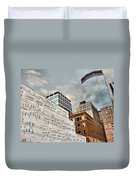 Classical Graffiti Duvet Cover by Kristin Elmquist