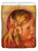 Claude Renoir Duvet Cover by Pierre Auguste Renoir