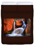 Clear Creek Falls Duvet Cover by Inge Johnsson
