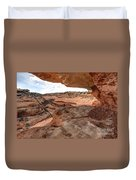 Cliff Overhang In Southwest Sandstone Canyon - Utah Duvet Cover by Gary Whitton