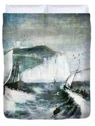 Cliffs Of Dover Duvet Cover by Lianne Schneider