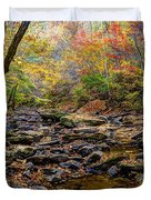 Clifty Creek In Hdr Duvet Cover by Paul Mashburn