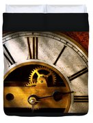 Clockmaker - What Time Is It Duvet Cover by Mike Savad