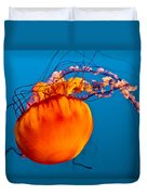Close Up Of A Sea Nettle Jellyfis Duvet Cover by Eti Reid