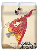 Clotilde And Alexandre Sakharoff Duvet Cover by George Barbier