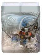 Cloud Cuckoo Land-fractal Art Duvet Cover by Karin Kuhlmann