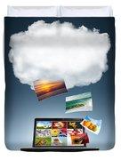 Cloud Technology Duvet Cover by Carlos Caetano