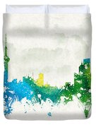 Clouds Over Shanghai China Duvet Cover by Aged Pixel