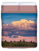 Cloudy Sunset Duvet Cover by Omaste Witkowski