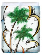 Coastal Tropical Art Contemporary Sailboat Kite Painting Whimsical Design Summer Daze By Madart Duvet Cover by Megan Duncanson