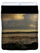 Coastal Winters Afternoon 3 Duvet Cover by Amy-Elizabeth Toomey