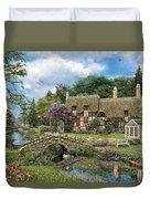 Cobble Walk Cottage Duvet Cover by Dominic Davison