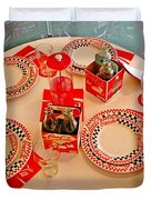 Coca-cola Diner  Duvet Cover by Chris Berry