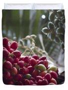 Cocos Nucifera - Niu Mikihilina - Palma - Niu - Arecaceae -  Palmae Duvet Cover by Sharon Mau