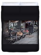 Coffe Shop Cafe Duvet Cover by Heather Applegate