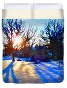 Cold Morning Sun Duvet Cover by Jeff Kolker