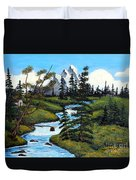 Cold Rattling Brook  Duvet Cover by Barbara Griffin