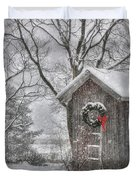 Cold Seat Duvet Cover by Lori Deiter