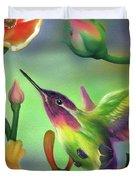 Colibri Duvet Cover by Luis  Navarro
