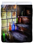 Collector - Bottle - A Collection Of Bottles Duvet Cover by Mike Savad