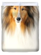 Collie Duvet Cover by Diana Angstadt