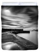 Collieston Breakwater Duvet Cover by Dave Bowman