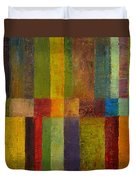 Color Panel Abstract Ll Duvet Cover by Michelle Calkins