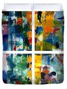 Color Relationships Collage Duvet Cover by Michelle Calkins