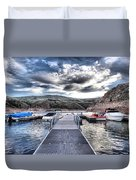Colorado Boating Duvet Cover by Dan Sproul