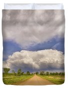 Colorado Country Road Stormin Skies Duvet Cover by James BO  Insogna