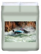 Colorado River Rafters Duvet Cover by Inge Johnsson