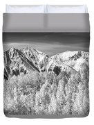 Colorado Rocky Mountain Autumn Magic Black And White Duvet Cover by James BO  Insogna