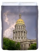 Colorado State Capitol Building Denver Co Duvet Cover by Christine Till
