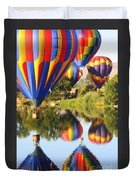 Colorful Balloons Fill The Frame Duvet Cover by Carol Groenen