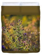 Colorful Bouquet Of Purple Aster Flowers Duvet Cover by Christina Rollo