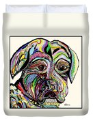 Colorful Boxer Duvet Cover by Eloise Schneider