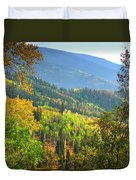 Colorful Colorado Duvet Cover by Brian Harig