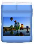 Colorful Landings Duvet Cover by Mike  Dawson