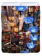 Colorful Traditional Turkish Lights  Duvet Cover by Leyla Ismet