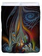 Colors In Motion-fractal Art Duvet Cover by Karin Kuhlmann