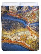 Colors On Rock I Duvet Cover by Heiko Koehrer-Wagner