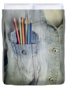 Coloured Pencils Duvet Cover by Joana Kruse