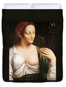 Columbine Duvet Cover by Leonardo da Vinci