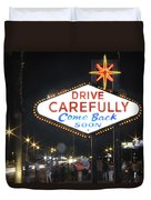Come Back Soon Las Vegas  Duvet Cover by Mike McGlothlen