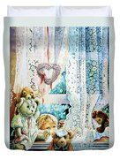 Come Out And Play Teddy Duvet Cover by Hanne Lore Koehler