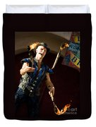 Comedy Juggling Duvet Cover by Mary AD Art