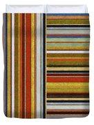Comfortable Stripes lX Duvet Cover by Michelle Calkins