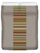 Comfortable Stripes Vll Duvet Cover by Michelle Calkins