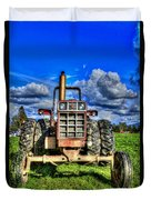 Coming Out Of A Heavy Action Tractor Duvet Cover by Eti Reid